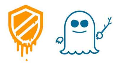 Meltdown (Shield) and Spectre (Ghost) Logos