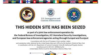 The Message Greeting Silk Road Visitors After It Was Seized By The FBI