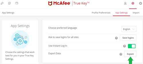 McAfee True Key Password Manager