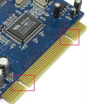 Sound Card Electrical Contacts