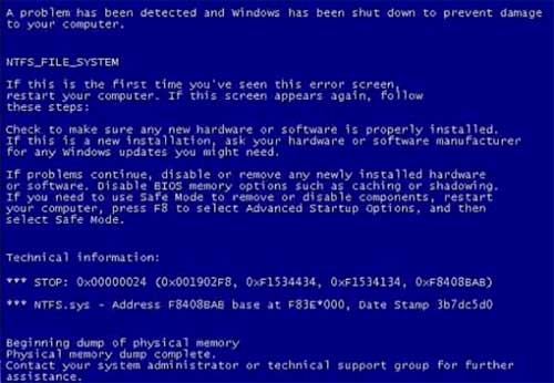 BSOD Due To Failing HDD