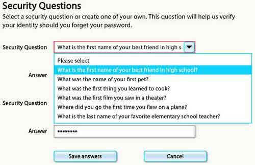 MFA Security Question Examples
