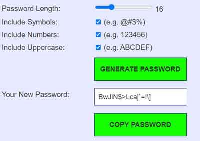 Strong Random Password Generator Tool