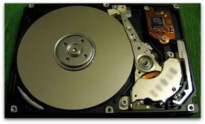 Inside an Internal Hard Drive