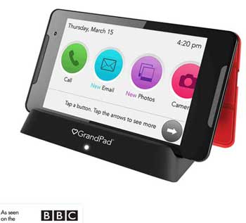 The GrandPad is a tablet device customised to help older people become connected