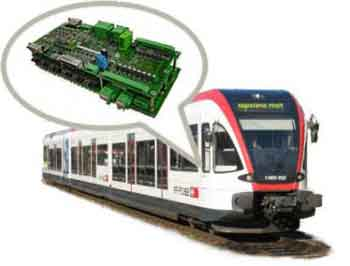 Train With Embedded Device Depicted