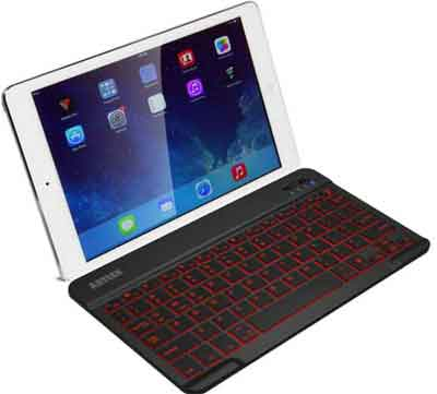 Arteck Wireless Keyboard With Backlight Enabled