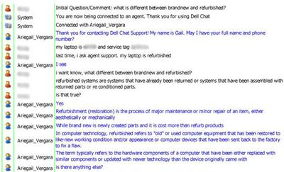 Dell Chat Excerpt