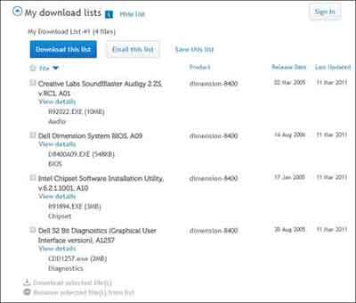 My Download Lists Example