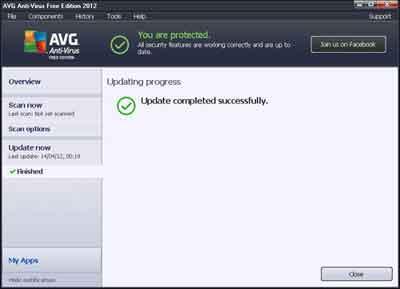 Antivirus Software Definition Updating Successful