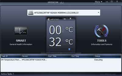 HDDSscan Temperature Check