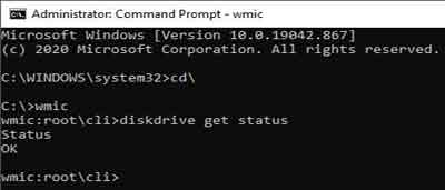Manual Disk Status Command