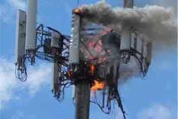 A 5G Phone Mast on Fire