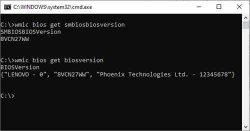 Identify Your Device's BIOS Version From The Command Prompt
