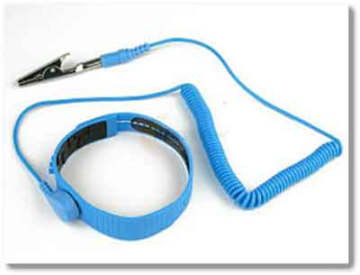 Wristband For Protection Against Static Electricity When Working Inside Of PC's