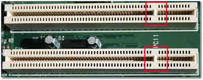 Peripheral Component Interconnect (PCI) Slots For A sound Card