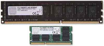 DIMM And SODIMM Memory Module Examples