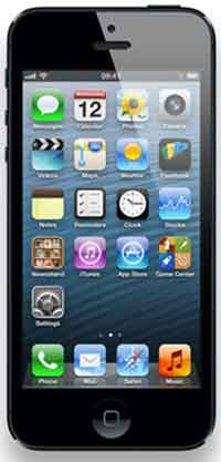 The Apple iPhone 5 running the iOS Operating System
