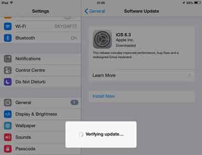 Start The iOS Installation Process