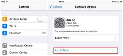 iOS Update Downloaded And Ready To Install