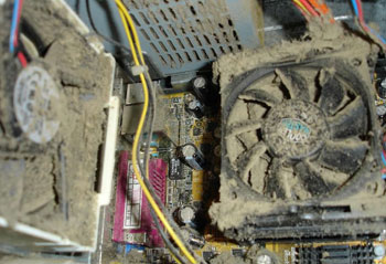 Picture of a Dusty Computer