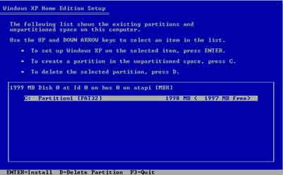 Hard Drive Partition