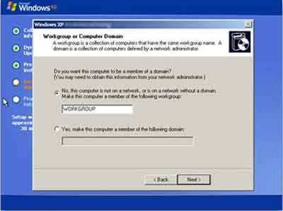 Windows XP Workgroup Or Domain