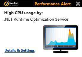 Norton Performance Alert Pop Up