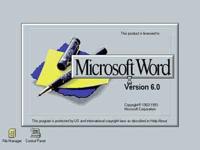 Microsoft Word Version 6.0 Release In 1993