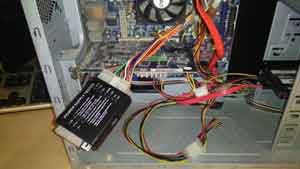 Power Supply Tester Connected To PSU Connector