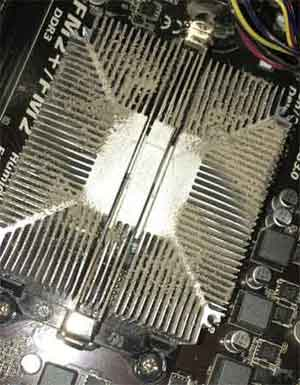 Build Up Of Dust On A Computer's Heat Sink