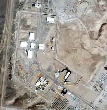 Satellite Image Of The Natanz Nuclear Facility In Iran