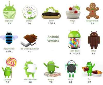 Android Versions Sample