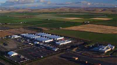 One of Microsoft's Data Centres Near The Small Eastern Washington Town of Quincy USA