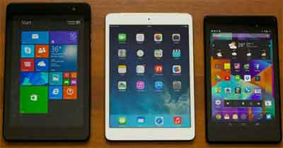 Apple iOS, Google Android, Microsoft Windows Devices