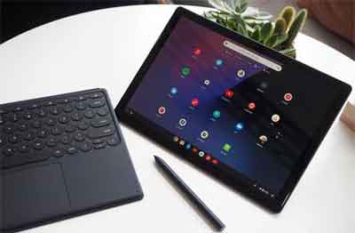 The Google Pixel Slate With Detached Physical Keyboard