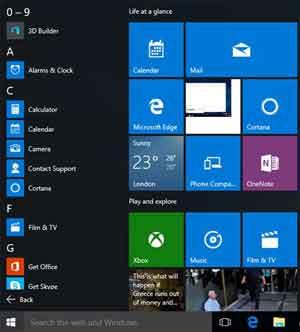 The Return of the Familiar Windows 10 Start Menu
