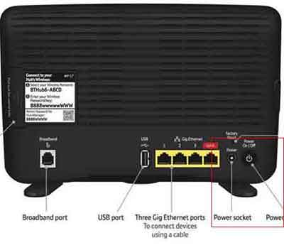 Look For Power Buttons and Sockets to Perform Hard Router Resets