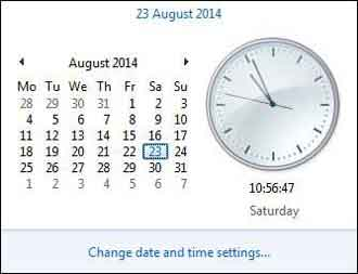 Windows 7 Date and Time