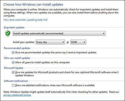 Windows 7 Automatic Updates