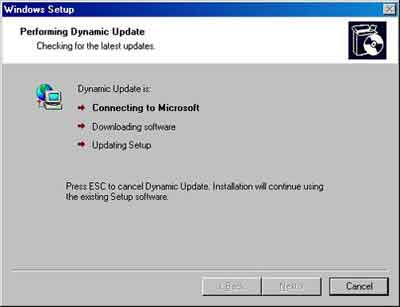 Recovery Console Install Dynamic Update